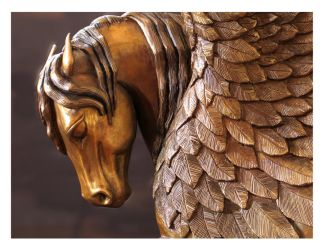 Winged Horse close-up by reedymanedkelpie