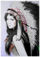 Native American girl by mychemplan