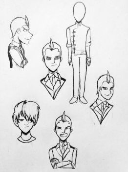 Apollo Justice Character Sketches by AthenaHolmes