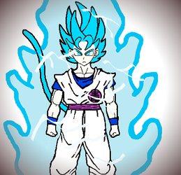 Super Saiyan Blue Blue! by Blue-Eyes3000