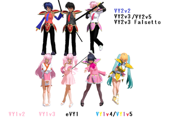 MMD VY1 and VY2(Own Designs)! by Ryad2006