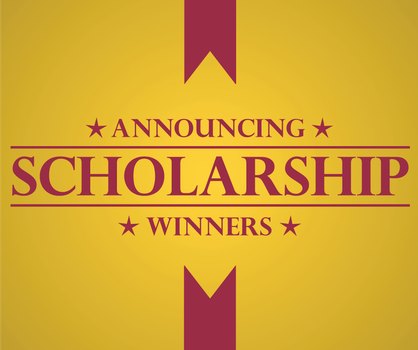 Scholarship Winners graphic by rlcamp