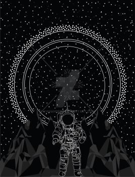 Space with Astronaut