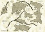 Aeldynn World Map (Stained Parchment) by AeldynnLore