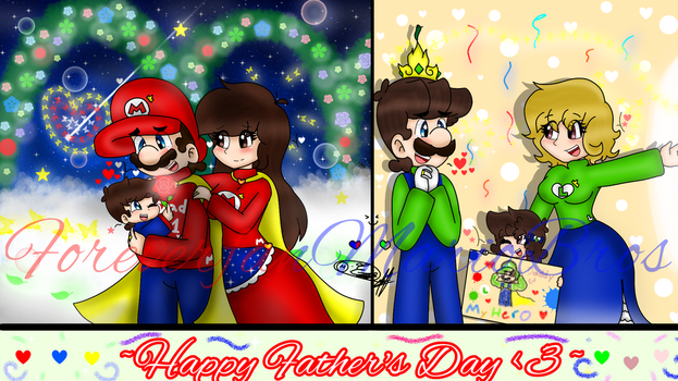 -Happy Fathers Day uwu - (read desc) by ForeverfanMarioBros