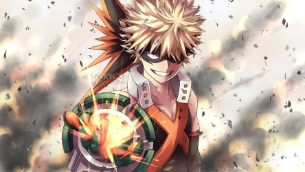 Bakugou Katsuki BNHA Wallpaper by SpukyCat