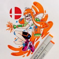 Inkling | Super Smash Bros Ultimate by matyosandon
