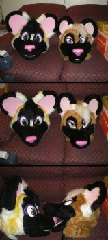 Old and Newest Fursuit Heads by Yumi-San1688