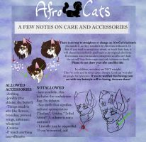 Afro Cat Accessory Guide by ChocolateQuill