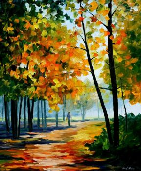 Noon In The Forest by Leonid Afremov by Leonidafremov
