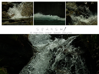 Splash Pack: 18 High-Res Water Splashes by faatxhorse