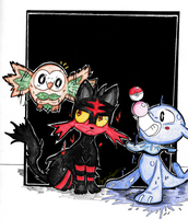Pokemon Sun and Moon Starters by Bryce1350
