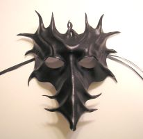 Black Long Nose Leather Mask by teonova