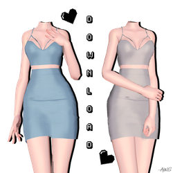 [MMD] Nightfall Dress (+DL) by AppleWaterSugar