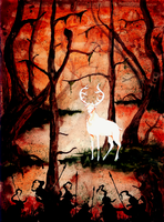 The stag of Redwood swamp by Feidhelm