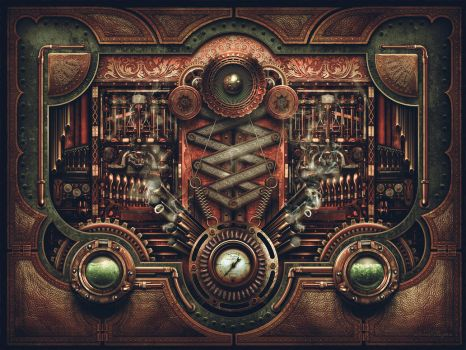 Steampunk Motherboard by DerekProspero