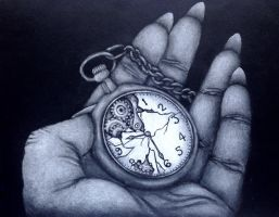 Time meant nothing by VoodooDollyArtwork