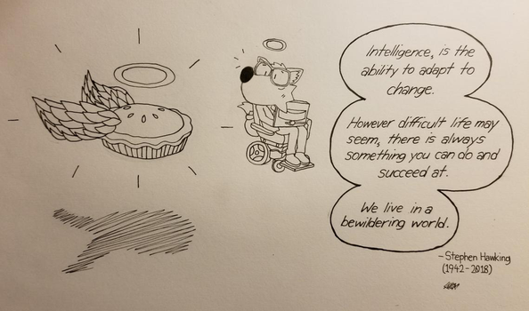 Stephen Hawkings become a Star on Pi Day by supykun