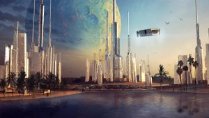 Tropical spaceport by Silberius