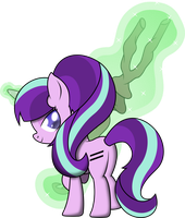 Starlight Glimmer and Her Staff by iDeltaVelocity