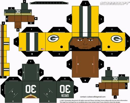 Ahman Green Packers Cubee by etchings13