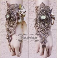 Cherub watch cuff by Pinkabsinthe