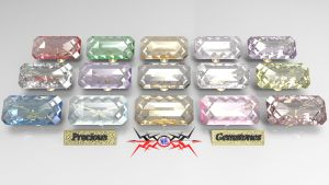 Precious Gemstone Collection by Bahr3DCG