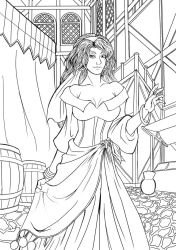 Esmeralda-Lineart by rithgroove