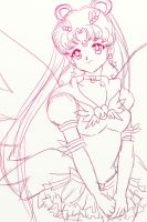 Eternal Sailor Moon Doodle by Sailor-Serenity