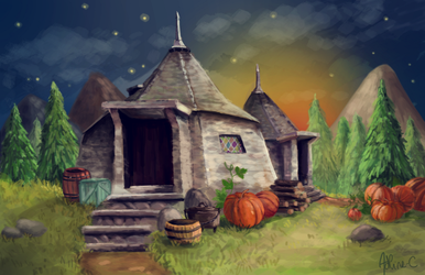 Hagrid's hut by Adline-c