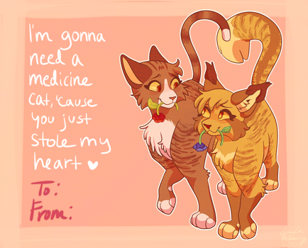 Mothpool Valentines by Redfoxling