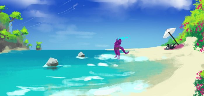 The Beach Days by brokencreation