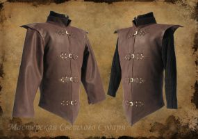 Leather Camisole Arcanum by Svetliy-Sudar