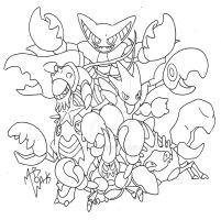Crabrawler joined in the claws crew! (uncolored)