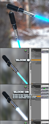 Free Lightsaber for G3F with obj included by Aeon--Soul