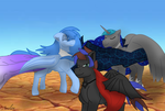 Capes in the wind (request) by AvalonLionWolf
