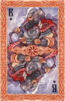 - Slavic cards - Perun (color) - by Losenko