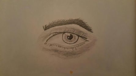 First attempt at an eye by dorofo