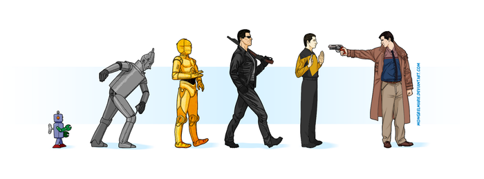 Evolution of the Android by mongrelmarie