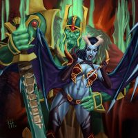 Wraith King and Queen of Pain by JenisVell