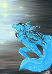 The Blue magic fox color by miawell1990