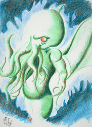 September second Cthulhu by SulaimanDoodle