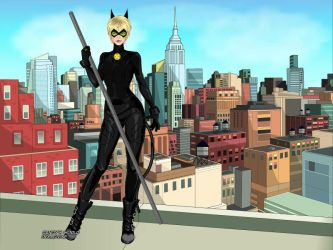 Miraculous Chat Noir at day by autumnrose83