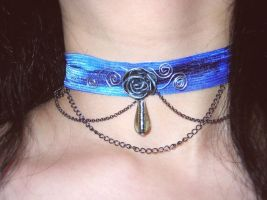 Blue Rose Chains by JuxtaposeGraphics