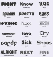 Font Pack #6 by shiny-a