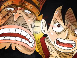 One Piece Chapter 836+ Luffy Fight Crack ! by Amanomoon