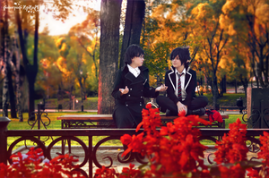 Okumura twins in park 7 by signore-illusionista