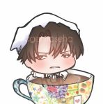 levi heichou and tea cup - snk aot by AgentRose