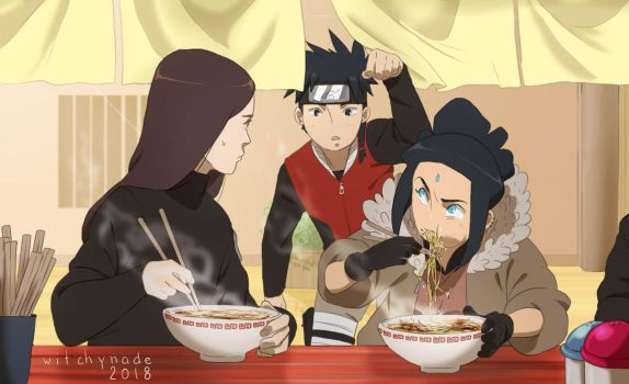 Naruto FC - Ramen time ! by WitchyNade
