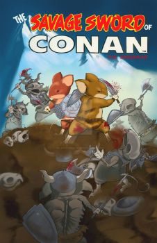 The Savage Sword Of Conan - Mouse Guard by Ari-Spike-Nadelman